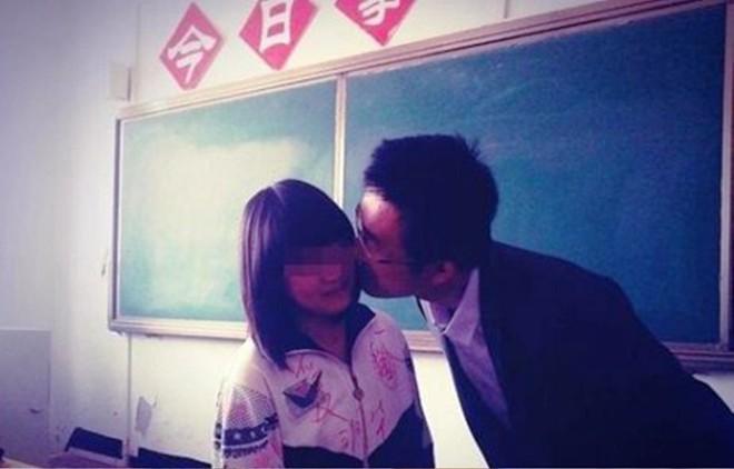 Nam giáo viên Trung Quốc hôn học sinh nữ