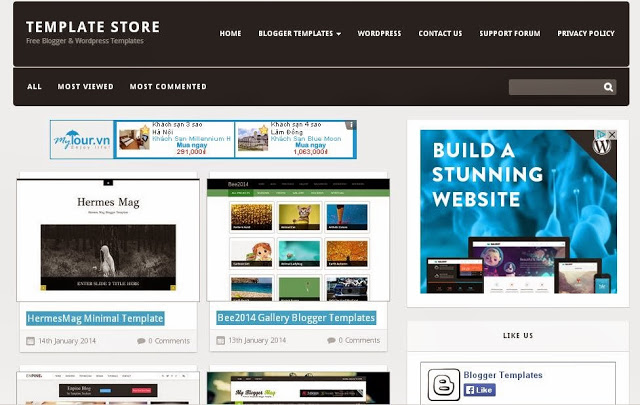 template đẹp miễn phí cho Blogspot
