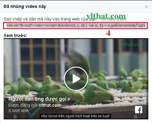 Thủ thuật chèn video trên Facebook vào Website, Blog với code rút gọn
