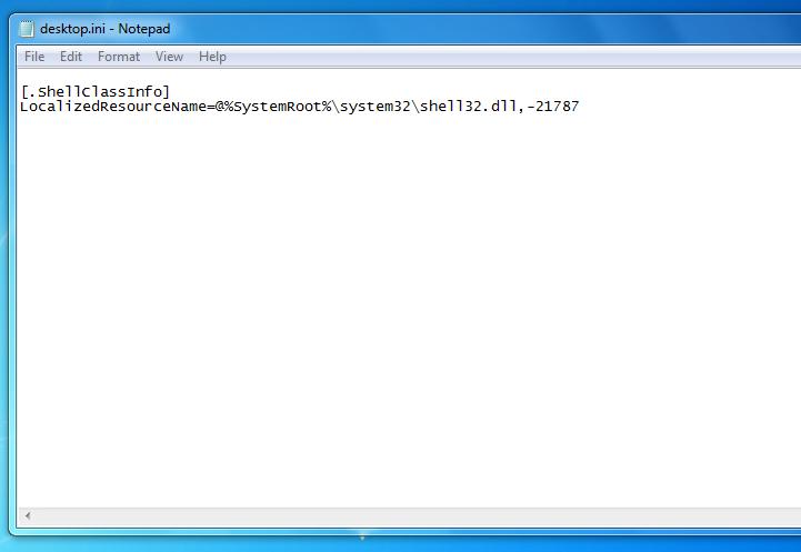 """Cách Fix Lỗi có file """"desktop.ini"""" khởi động cùng Windows"""