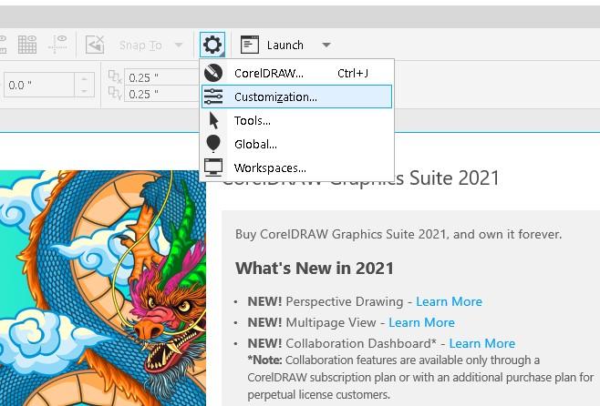 Cách đổi màu CorelDRAW 2021 cho dễ nhìn